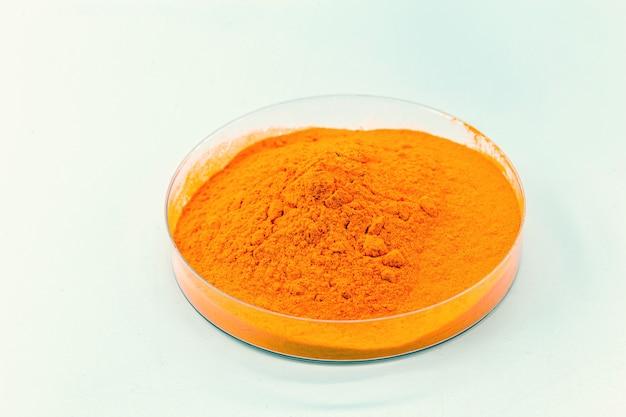 Óxido de ferro laranja óxido de ferro sintético usado como corante