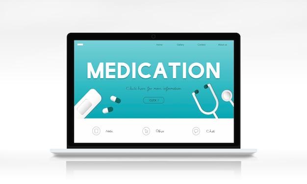 Paciente com prescrição de farmacêutico de medicamentos e medicamentos