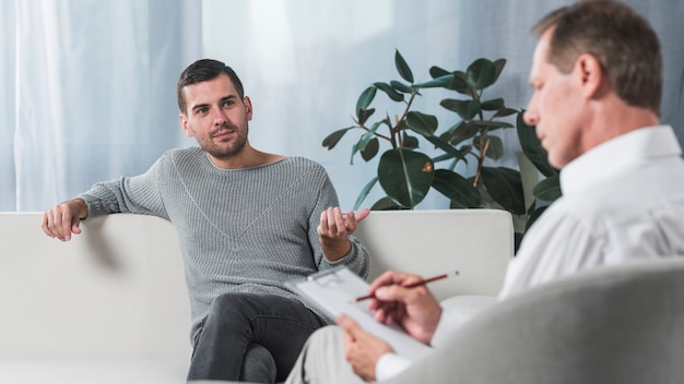 Paciente com terapeuta
