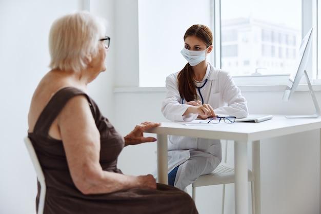 Paciente hospital exame consultório médico. foto de alta qualidade