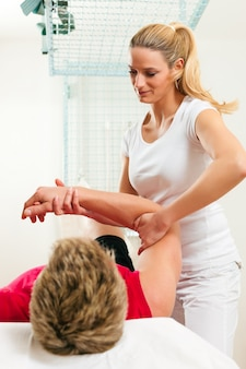 Paciente na fisioterapia