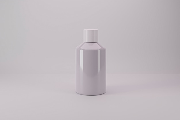 Pacote cosmético isolado pronto para base de maquete