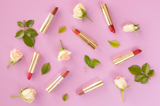 Pacote de batom de cosméticos de beleza