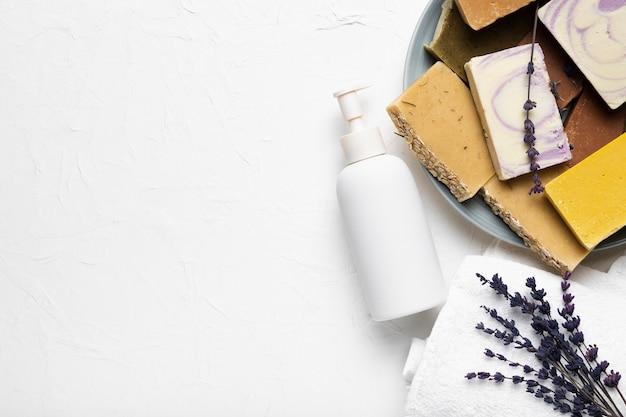 Pacote de boas-vindas de higiene do spa