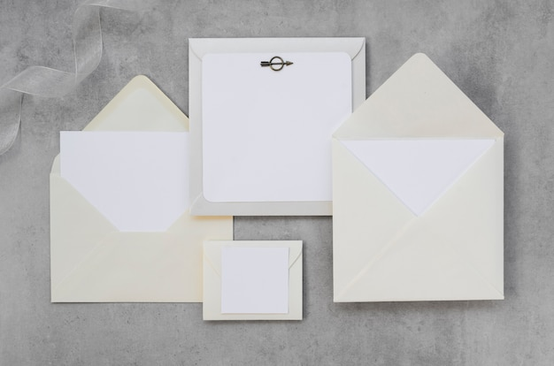Pacote de convite de casamento vazio