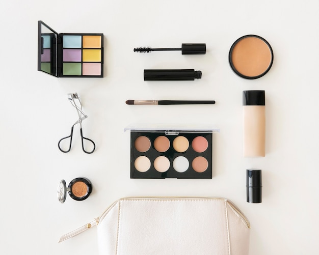 Pacote de cosméticos de beleza