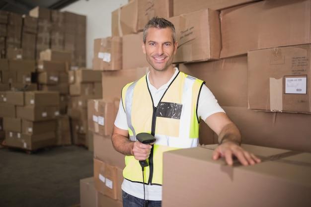 Pacote de digitalização de trabalhadores no armazém