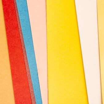 Pacote de folhas de papelão multicoloridas
