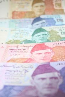 Pacote de notas de mistura de moeda paquistanesa