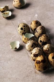 Pacote de ovos de codorna