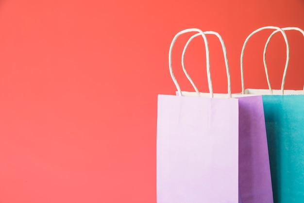 Pacotes de compras de papel