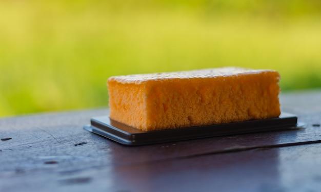 Padaria no chão de madeira de comida natural que tem um gosto delicioso