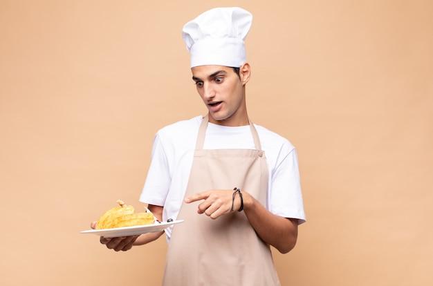 Padeiro chef cozinhando