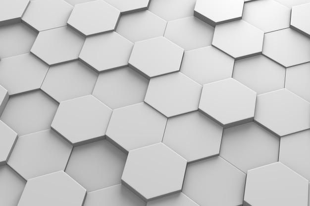 Padrão 3d de azulejos hexagonais