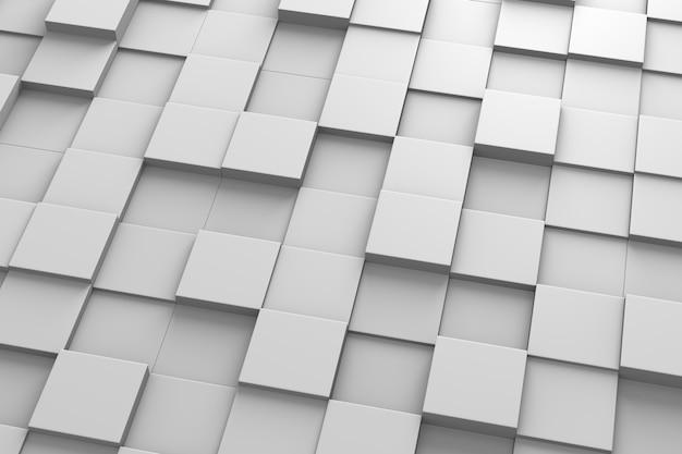 Padrão 3d de azulejos quadrados