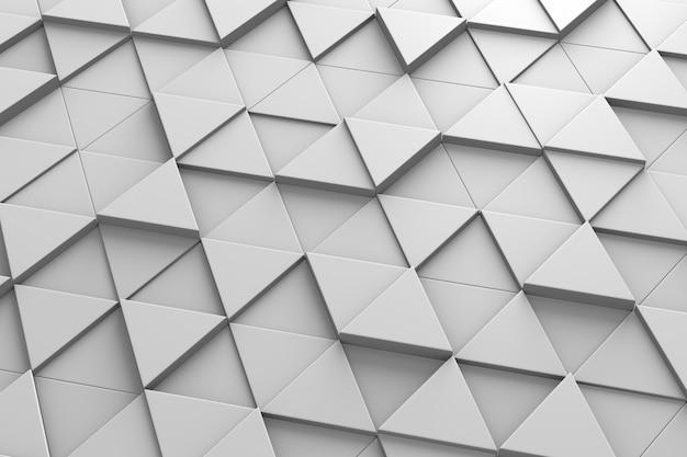 Padrão 3d de telhas triangulares