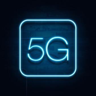 Padrão 5g5g da moderna tecnologia de transmissão de sinal.