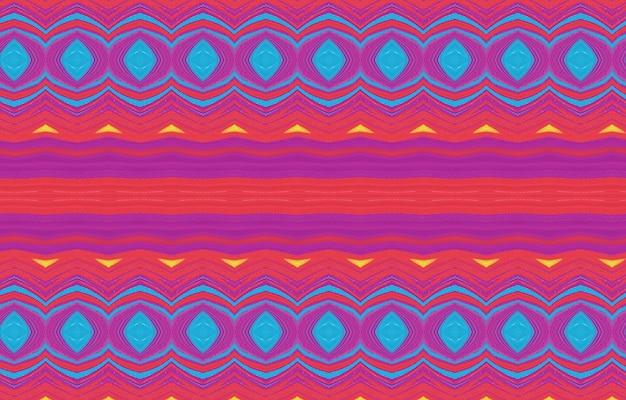 Padrão abstrato colorido para têxteis e design padrão de cores completas com padrão geométrico resumo
