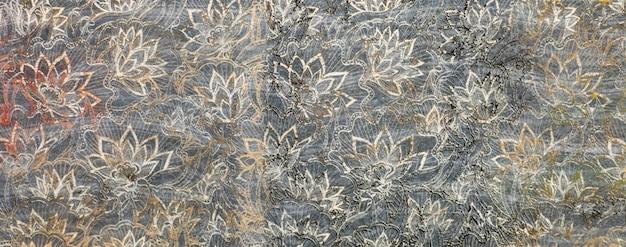 Padrão abstrato com folhas ornamentais ladrilho cerâmico decorativo