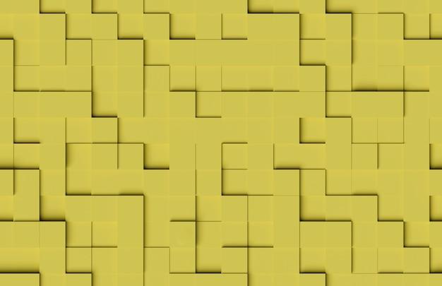 Padrão abstrato sem emenda. fundo amarelo de formas cúbicas.