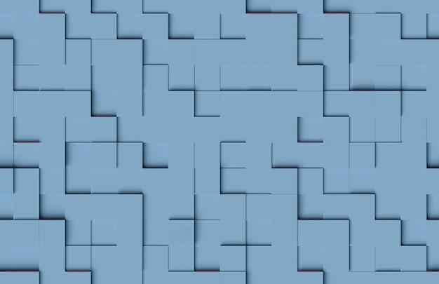 Padrão abstrato sem emenda. fundo azul das formas cúbicas.