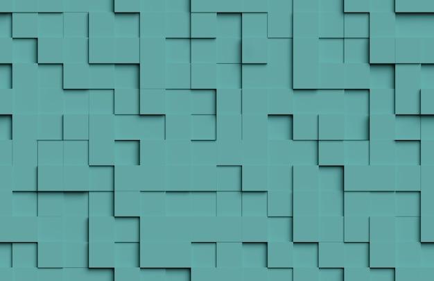 Padrão abstrato sem emenda. fundo verde de formas cúbicas.
