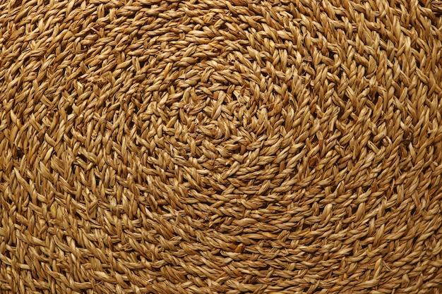 Padrão artístico de superfície de esteira de lugar de sedge tecido marrom dourado