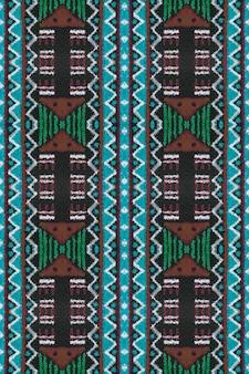 Padrão asteca. estilo decorativo. padrão asteca de orquídea.