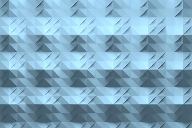 Padrão azul com origami como superfície dobrada