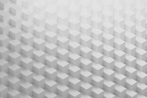 Padrão branco com arranjo geométrico de cubos