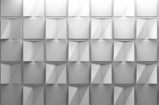Padrão branco com quadrados de papel dobrado com efeito