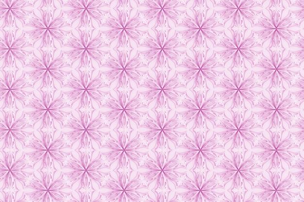 Padrão branco tridimensional com flores de seis pontas