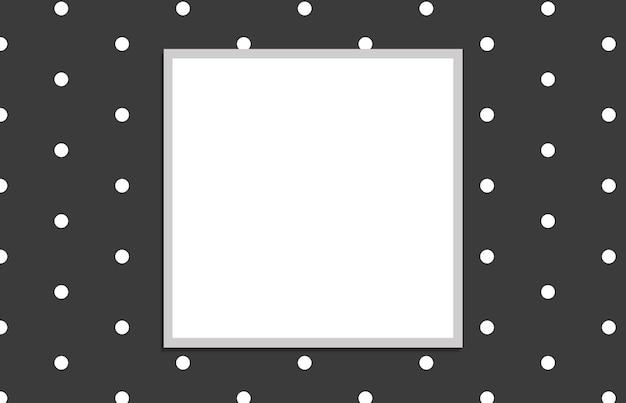 Padrão com quadrado branco em fundo cinza