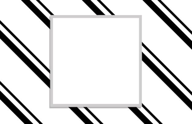 Padrão com quadrado branco em fundo preto e branco