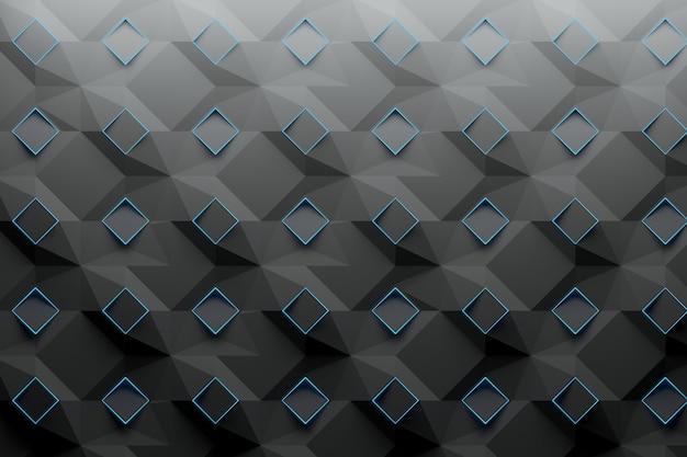 Padrão com quadrados de losangos azuis