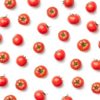 Padrão com tomate. fundo abstrato. tomates no fundo branco