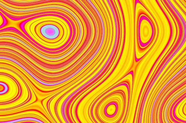 Padrão de água colordul de ilustração 3d, textura. padrão de superfície de água abstrato caótico pop art. ótimo para fundo de verão