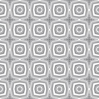 Padrão de aquarela em azulejos. fundo preto caleidoscópio simétrico. impressão criativa pronta para têxteis, tecido de biquíni, papel de parede, embrulho. aquarela de azulejos de pintados à mão sem costura.