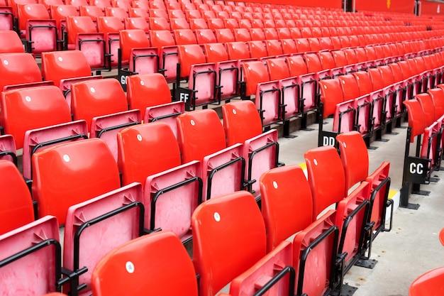 Padrão de assentos no estádio do esporte