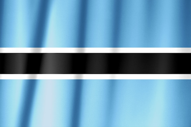 Padrão de bandeira do botswana sobre a textura do tecido