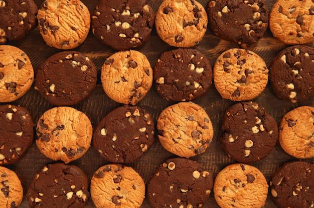 Padrão de biscoitos de biscoito de chocolate