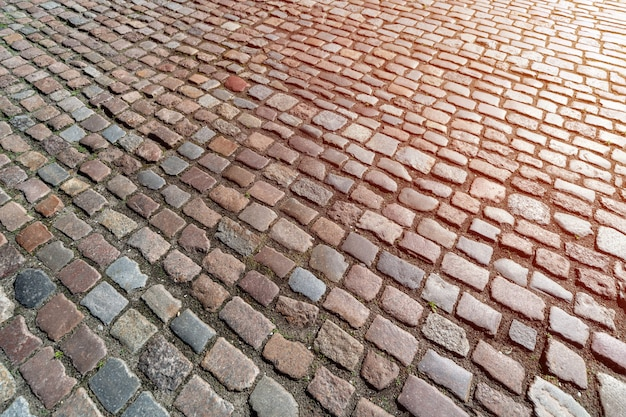Padrão de calçada alemã antiga no centro da cidade