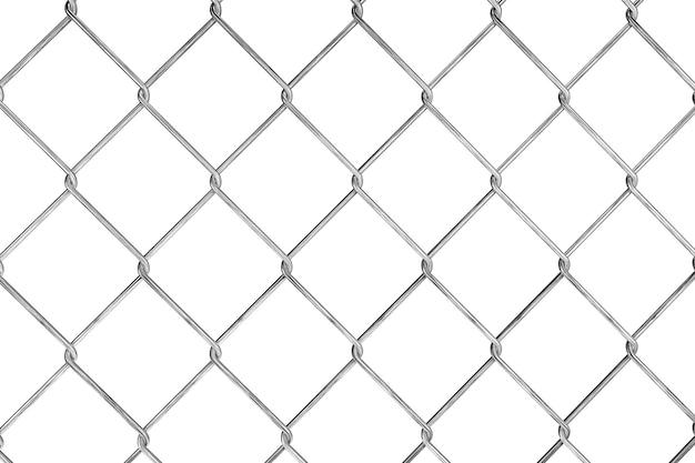 Padrão de cerca com fio em um fundo branco