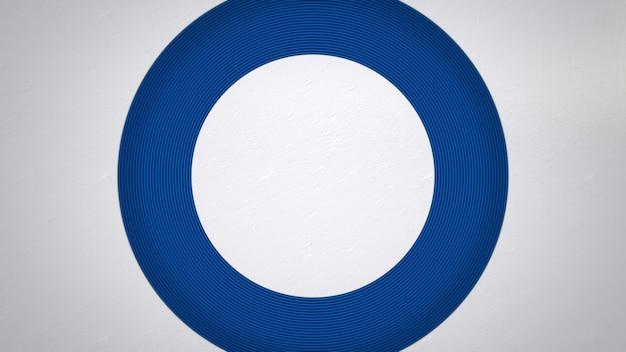 Padrão de círculo azul, fundo abstrato. estilo geométrico dinâmico elegante e luxuoso para negócios, ilustração 3d