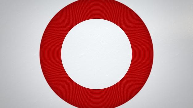 Padrão de círculo vermelho de movimento, fundo abstrato. estilo geométrico dinâmico elegante e luxuoso para negócios, ilustração 3d