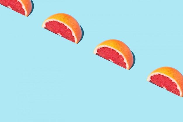 Padrão de comida moda comida com toranja