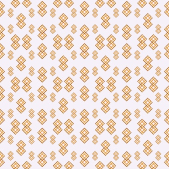 Padrão de cor amarela e laranja de fundo padrão geomátrico sem costura