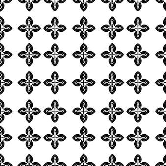 Padrão de cor preta vintage sem costura para plano de fundo