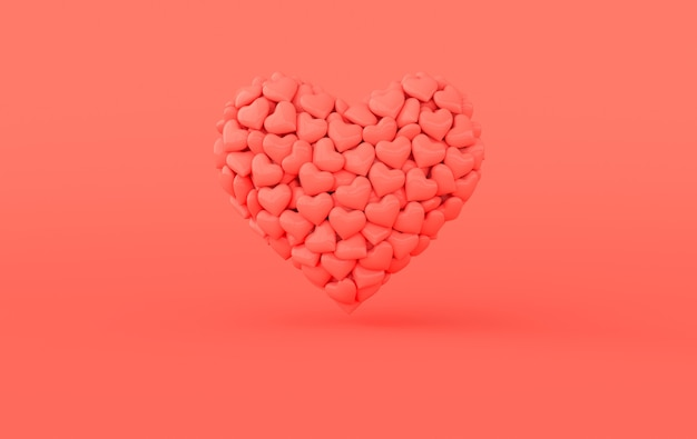 Padrão de coração dia dos namorados