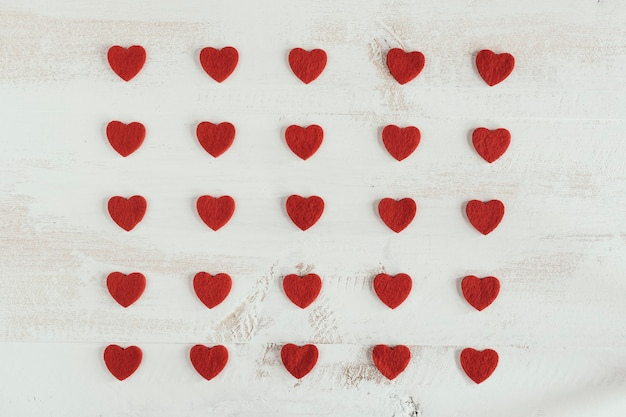 Padrão de coração feito à mão